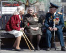 Traditional meeting of war veterans near the Bolshoi Theatre. Moscow, 9 May 2009